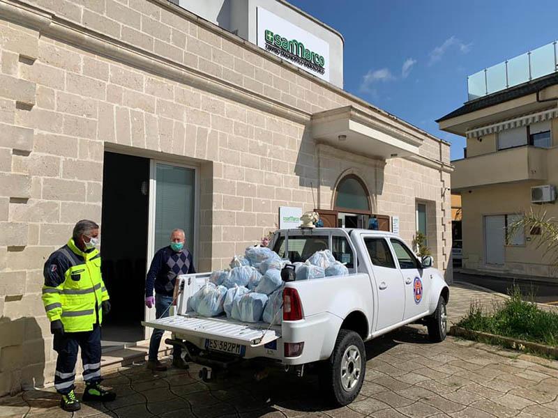 Donazione per le famiglie in difficoltà